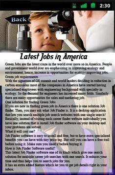 Latest Jobs in America poster