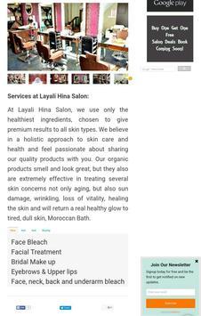 Layali Hina Salon apk screenshot