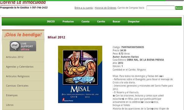 Libreria Catolica LaInmaculada apk screenshot