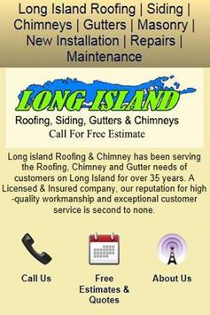 Long Island Roofing & Chimney poster