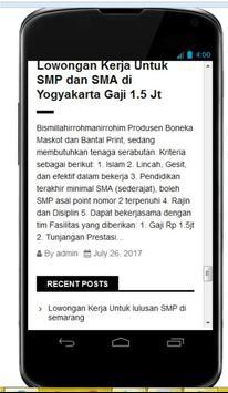 Lowongan Kerja Update Indonesia screenshot 1