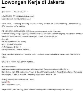 Lowongan Kerja Update Indonesia screenshot 3