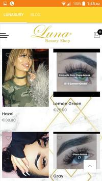 Luna beauty shop poster