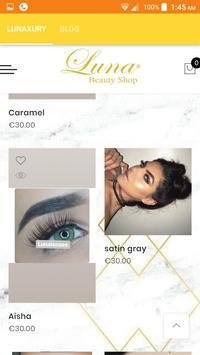 Luna beauty shop screenshot 2