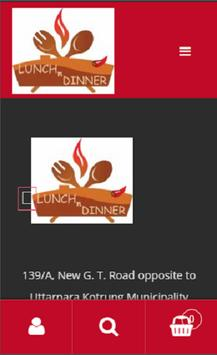 Lunch and Dinner screenshot 1