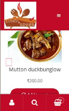 Lunch and Dinner screenshot 2