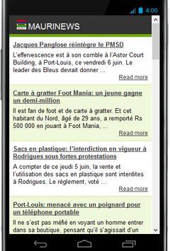 MAURINEWS apk screenshot