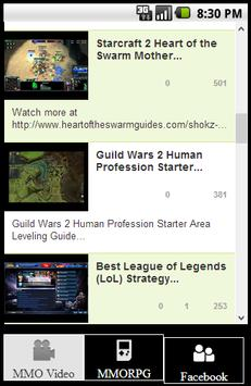 MMORPG News and Video Guides screenshot 1