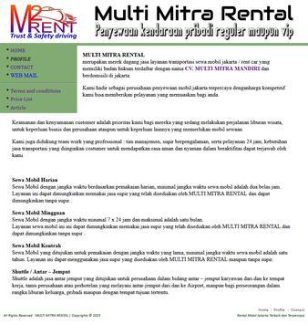 Rental Mobil apk screenshot