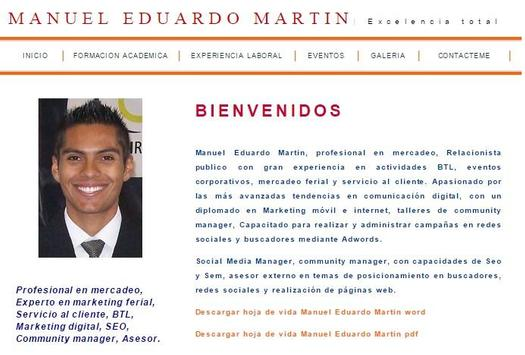Manuel Eduardo Martin poster