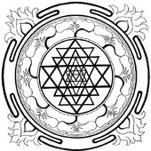 Mandala coloring icon