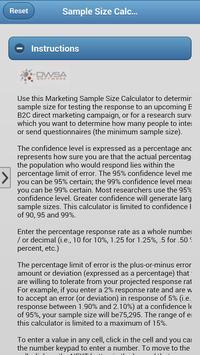 MarketingSampleSizeCalculator screenshot 3