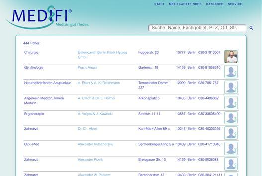 MediFi - Medizin gut finden apk screenshot
