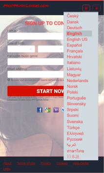MeetMusicLovers.com screenshot 1
