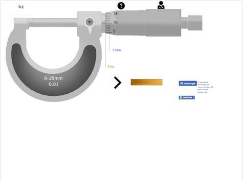 Micrometer (screw gauge) simulator screenshot 2