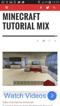 Tutorial Mix for Minecraft apk screenshot