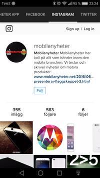 Mobilanyheters app screenshot 1