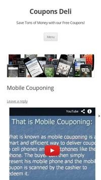 Mobile Coupons poster