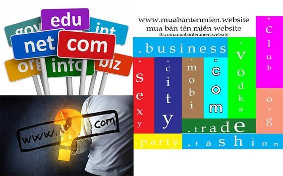 Mua bán tên miền website poster