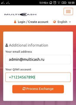 MultiCash24 - обменник apk screenshot