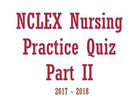 NCLEX Nursing Practice Quiz Part II poster