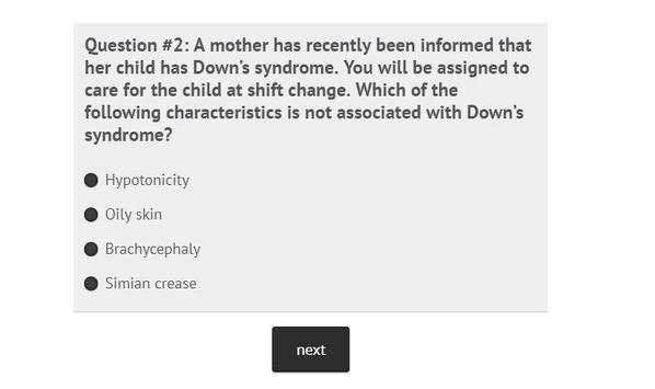 NCLEX Nursing Practice Quiz Part II apk screenshot