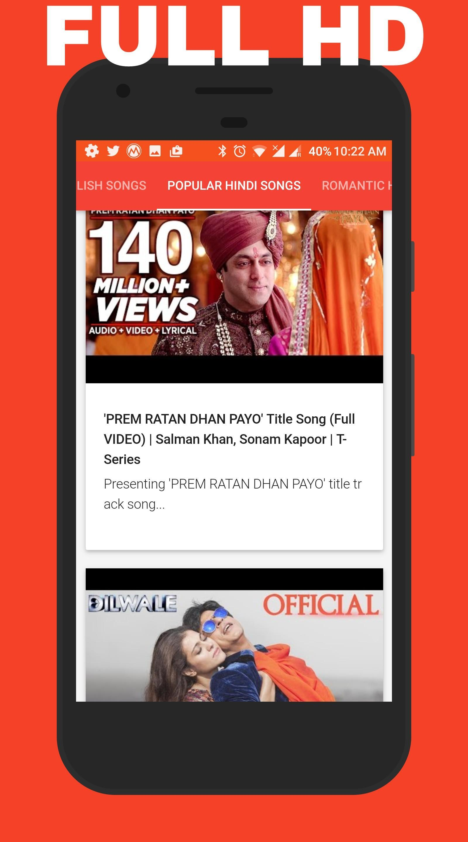 New Hindi HD Video Songs for Android - APK Download