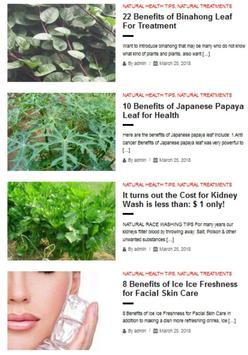 Natural Health Tips poster