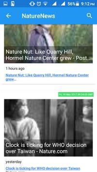 Nature news apk screenshot