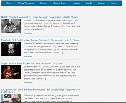 New York Jazz Workshop screenshot 1