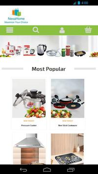 Nexahome: Online supermarket for household product poster