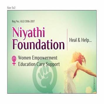 Niyathi Foundation poster