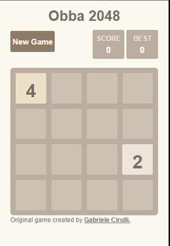 Obba-2048 Game screenshot 1