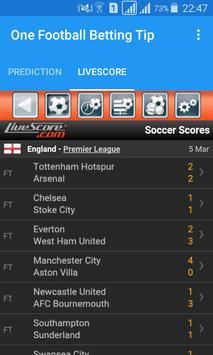 One Football Betting Tip apk screenshot