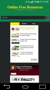 Online Free Resources screenshot 3