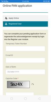 Online Pan Application screenshot 1