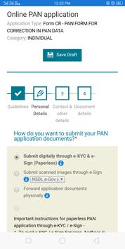 Online Pan Application screenshot 2