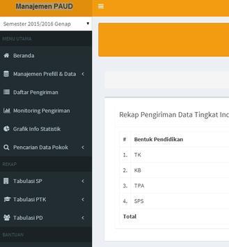 Manajemen PAUD Dikmas apk screenshot