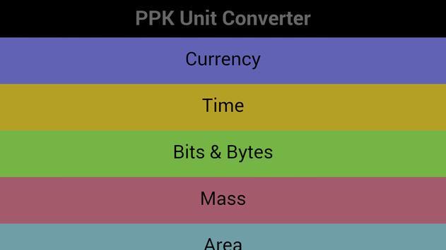 PPK Unit Converter poster