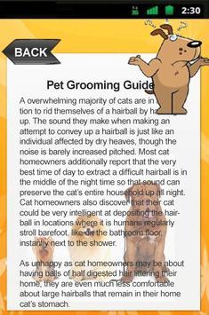 Pet Grooming Guide screenshot 3