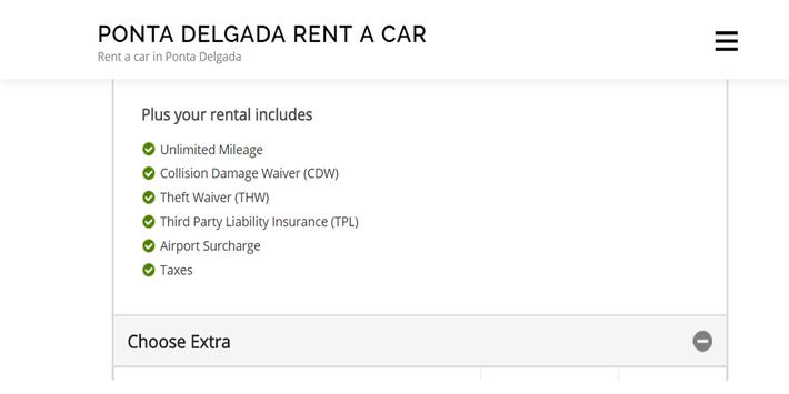 Rent a Car Ponta Delgada - Ponta Delgada RentalCar screenshot 1