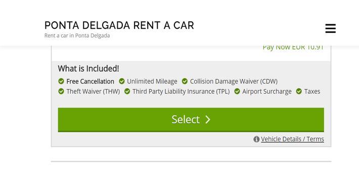 Rent a Car Ponta Delgada - Ponta Delgada RentalCar screenshot 2