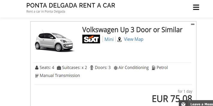 Rent a Car Ponta Delgada - Ponta Delgada RentalCar screenshot 3