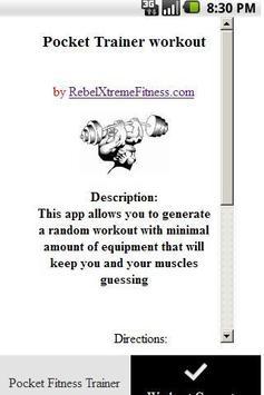 Pocket Fitness Trainer poster