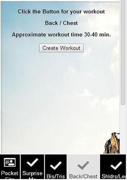 Pocket Fitness Trainer apk screenshot