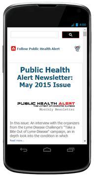 Public Health Alert apk screenshot
