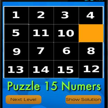Puzzle 15 Numers poster