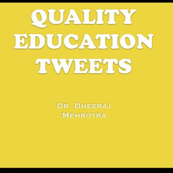 Quality Education Tweets poster