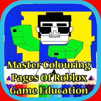 Printable Roblox Games Coloring Pages poster