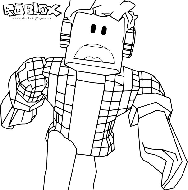 Printable Roblox Games Coloring